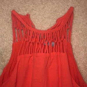 Abbeline Dresses - Coral, high neck dress
